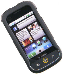 Motorola CLIQ Rubberized Phone Protector Case with Optional Belt Clip