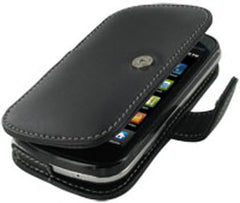 Samsung Epic 4G Monaco Book Type Leather Case - Black
