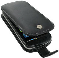Samsung Epic 4G Monaco Flip Type Leather Case - Black
