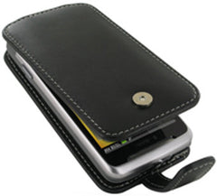T-Mobile G2 Monaco Flip Type Leather Case - Black