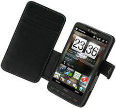 HTC HD2 Monaco Book Type Leather Case - Black