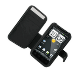 HTC EVO 4G Monaco Book Type Leather Case - Black