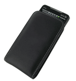 HTC EVO 4G Monaco Vertical Pouch Type Leather Case - Black