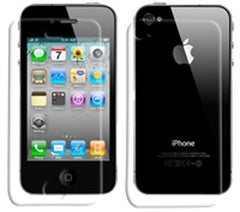Monaco Apple iPhone 4 Anti-Glare Front Screen and Back Protector with Cleaning Cloth