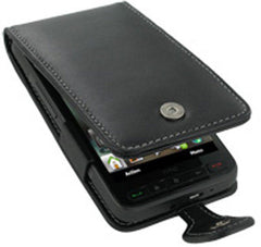 HTC HD2 Monaco Flip Type Leather Case - Black
