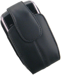 BlackBerry Super Premium Leather Pouch with Spring Belt Clip - Black