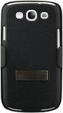 Samsung Galaxy S3 S III Naztech DoubleUp Shell and Holster Combo - Black