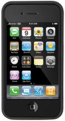 iLuv Apple iPhone 4 Boxy Silicone Trim Case - Black Original (OEM) ICC700BLK