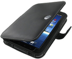 Samsung Galaxy Tab Monaco Book Type Leather Case - Black