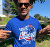 Unisex T-Shirt, Royal (100% cotton) Modeled by Andre Reed
