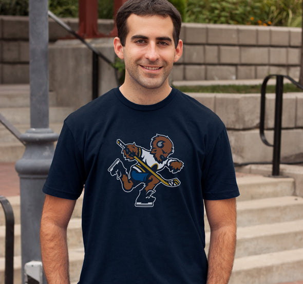 Unisex T-Shirt, Navy (100% cotton) Modeled by Andrew Baglini