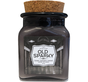 "CHARGE: ""Old Sparky"" scented candle"