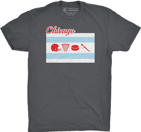 "Chicago Vol. 1, Shirt 6: ""Four Sports, Five Teams, One City"""