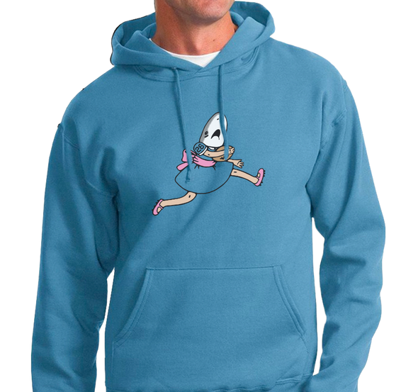 Sweatshirt Hoody, Columbia Blue (50% cotton, 50% polyester)