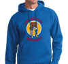 Sweatshirt Hoody, Royal (50% cotton, 50% polyester)