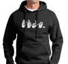 Unisex Hoody, White on Black (50% cotton, 50% polyester)