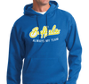 Sweatshirt Hoody, Gold on Royal (50% cotton, 50% polyester)