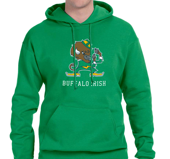 Sweatshirt Hoody, Green (50% cotton, 50% polyester)