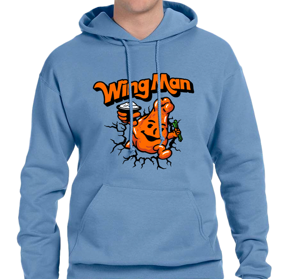 Sweatshirt Hoody, Light Blue (50% cotton, 50% polyester)