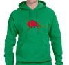 Sweatshirt Hoody, Kelly Green (50% cotton, 50% polyester)