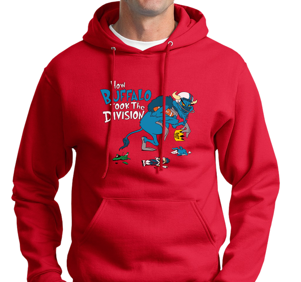 Sweatshirt Hoody, Red (50% cotton, 50% polyester)