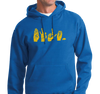 Unisex Hoody, Gold on Royal (50% cotton, 50% polyester)