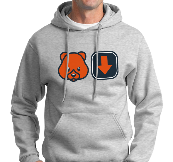 Sweatshirt Hoody, Ash (50% cotton, 50% polyester)