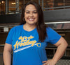 Ladies T-Shirt, Royal (100% cotton) Modeled by Heather Ly, WGRZ-TV