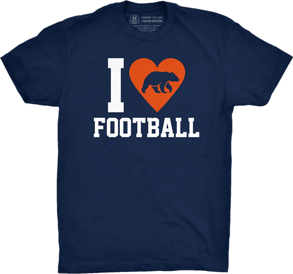 "Chicago Vol. 5, Shirt 24: ""I Heart Football"""