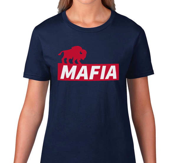 Ladies T-Shirt, Navy (100% cotton) Also available in Royal