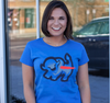 Ladies T-Shirt, Royal (Modeled by Courtney Corbetta, AM Buffalo)
