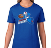 Ladies T-Shirt, Royal (100% cotton)