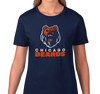 Ladies T-Shirt, Navy (100% cotton)