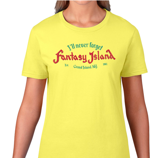 Ladies T-Shirt, Spring Yellow (100% cotton)
