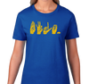 Ladies T-Shirt, Gold on Royal (100% cotton)