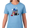 Ladies T-Shirt, Caribbean Blue (100% cotton)