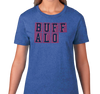 Ladies T-Shirt, Heather Blue (60% cotton, 40% polyester)