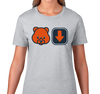 Ladies T-Shirt, Heather Gray (90% cotton, 10% polyester)