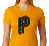Ladies T-Shirt, Gold (100% cotton)