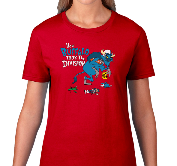 Ladies T-Shirt, Red (100% cotton)