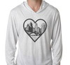 Tri-Blend Lightweight Hoody, Heather White (50% polyester, 25% cotton, 25% rayon)
