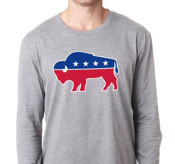 Unisex Longsleeve, Heather Gray (90% cotton, 10% polyester)