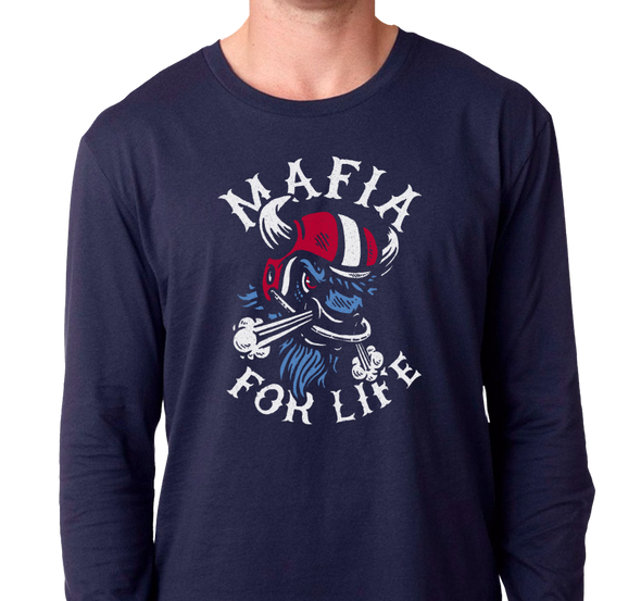 Unisex Longsleeve, Navy (100% cotton)