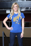 Ladies T-Shirt Royal (100% cotton) Modeled by Lauren Hall
