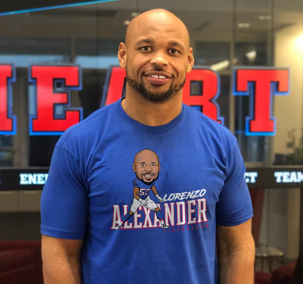 Unisex T-Shirt, Royal (100% cotton) Modeled by Lorenzo Alexander