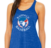 Ladies Racerback Tank, Blue Marble (91% polyester, 9% cotton)