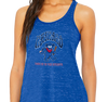Ladies Racerback Tank, True Royal Marble (91% polyester, 9% cotton)
