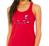 Ladies Racerback Tank, Red (65% polyester, 35% viscose)
