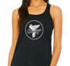 Ladies Racerback Tank, Black (65% polyester, 35% viscose)