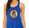 Ladies Flowy Tank, Royal (65% polyester, 35% viscose)